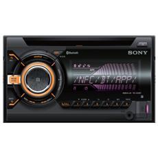 Autoradio WX900BT Doppio CD connessione NFC / Bluetooth / USB Radio / MP3 / WMA / FLAC Nero