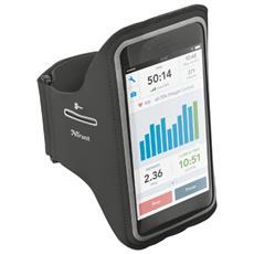 Fascia da braccio per iPhone 6 e 6S Plus con tasche per chiavi e carte di credito - Nero