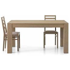 Tavolo Di Design Allungabile Rovere Naturale Spazzolato 180-280x90