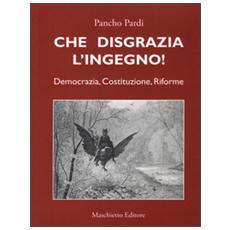 Che disgrazia l'ingegno! Democrazia, costituzione, riforme