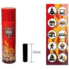 Estintore Spray Antincendio Stop-fire Aerosol 500 Gr Portatile E Manuale Di Note