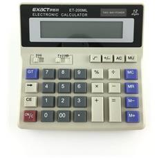 Office Calculator, Calcolatrice Elettronica Solare A Due Vie Con Tastiera Classica E Ampio Display Extro