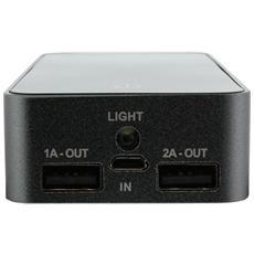 01472, Polimeri di litio (LiPo) , USB, Nero, USB, Metallo, Universale