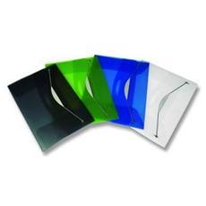 confezione da 3 pezzi - cartellina con elastico in ppl trasp. grigio fellowes