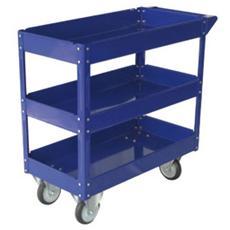 pz. 1 Carrello Portautensiliacciaio vern. blu 3 rip. TC4103