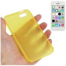 Custodia Ultra Sottile 0.3mm Per Iphone 5c Giallo Trasparente