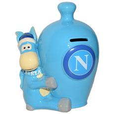 Ssc Calcio Napoli Salvadanaio Ceramica Mascotte
