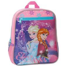Zainetto Scuola Frozen Elsa Anna 28 Cm Zaino Asilo Bambine Rosa 6 Lt
