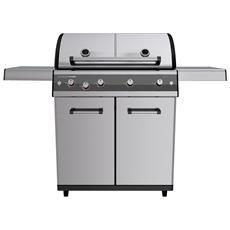 Barbecue A Gas Mod. Dualchef S 425 G Inox Con Fornello Laterale In Acciaio Inox Di Outdoorchef