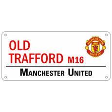 Riproduzione Cartello Stradale Ufficiale Old Trafford (taglia Unica) (rosso)