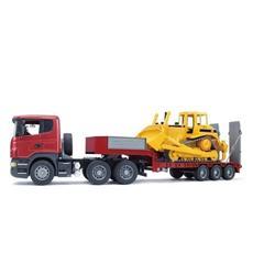 BRUDER - Camion Scania R Serie S Articolato con Bulldozer...