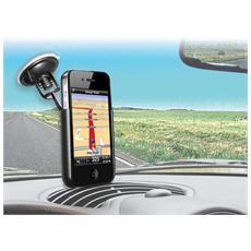 *Puro Supporto Auto Con Staffa Orientabile Per Vetro Per Iphone 3 E Iphone 4/4S