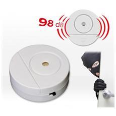 Allarme Porte E Finestre Safe Alarm Tondo Antifurto Protezione Casa Negozio 98 Db Senza Fili