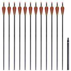 Set 12 Frecce Standard Per Arco Ricurvo 76,2 Cm / 0,76 In Carbonio