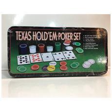 Texas Hold0em Poker Set La Giraffa Scatolo In Metallo