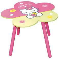 Tavolo Scuola Hello Kitty Altezza: 45 Cm Diametro: 65 Cm