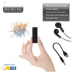 Mini Registratore Vocale 16gb Micro Audio Voice Recorder Microspia Ambientale Spy Cimice Lettore Mp3 Pen Drive