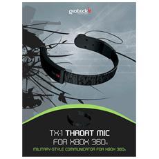 X360 - Throat Microfono con Auricolare - Military System