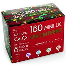 Minilucciole 180 Luci, Plastica, Multicolore