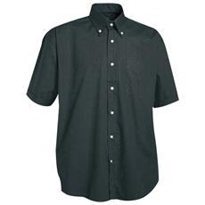 Camicia A Manica Corta Con Taschino In Cotone Colore Nero Taglia Xl