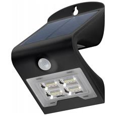 I-HLED-OWL-2WB - Lampada LED Solare a Muro 2W IP65 Sensore di Movimento Nero