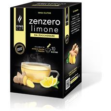 Zenzero E Limone Da Zuccherare - 1 Confezione Da 10 Bustine Solubili (10 Bustine, 10 Tazze) Solubile In Acqua Calda E Fredda