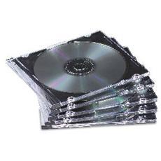 Custodia per CD Base Jewel Plastica Nera e Trasparente