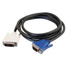 Cavo Video C2G 81206 - Coassiale - Schermato - 1 Pacco - DVI-A Maschio Video - HD-15 Maschio VGA - Nero