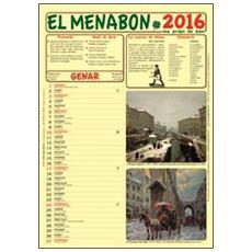 Menabon. Calendario 2016. Con libro (El)