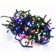 Filo 400 luci Led multicolor filo verde per albero di Natale controller 8 funzioni