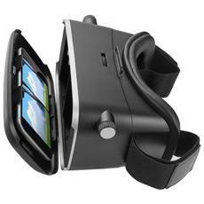 """VR Exos visore realtà virtuale 3D universale per smartphone fino 5,5"""""""