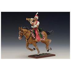8731382 Mameluk With Trumpet + Horse Modellino