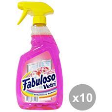 Set 10 Vetri Trigger 750 Ml. Detergenti Casa