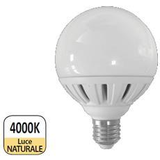 Lampada Globo Led E27 18w Resa 120w Luce Naturale 1570 Lumen D. 95mm