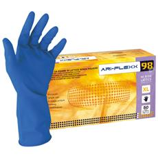 Guanti Hi Risk Ad Alto Spessore In Lattice Senza Polvere Colore Blu Taglia S