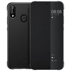 Flip Cover Custodia Window Book Huawei P20 Lite colore Nero