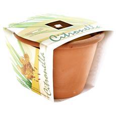 Candele di citronella in vaso antizanzare Confezione 6 pezzi