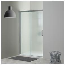 Porta nicchia doccia 130 cm modello dream lato fisso a sinistra Cristallo opaco