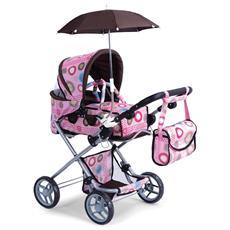 Riproduzione passeggino carrozzina trendy per bambole gioco bimba bambina rosa