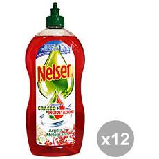 Set 12 Piatti 900 Ml. Argilla-melograno Detergenti Casa