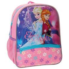 Zainetto Scuola Frozen 33 Cm Zaino Asilo Elsa Anna Elementari Bambine Rosa
