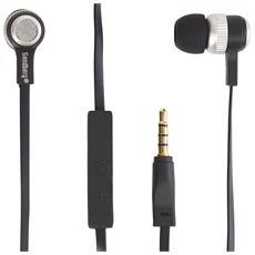 Auricolari con Microfono Cablato 480-11 Colore Nero Argento