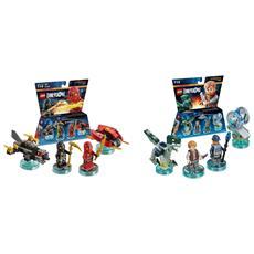 Set 2 Team Pack LEGO Dimensions: Jurassic World + Ninjago
