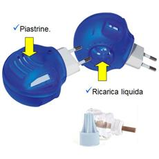 Presa Fornello Elettrico Antizanzare Con Ricarica Liquida O Con Piastrina + Ricarica Liquida 45ml Zanzare Lunga Durata