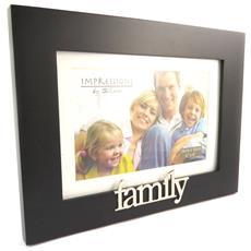 cornici portafoto 'family' nero (10x15 cm) - [ n4783]