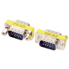 GCM-9F9F, VGA 15-pin D-Sub (M) , VGA 15-pin D-Sub (M) , Maschio / maschio, Argento, Metallo, 3,2 cm