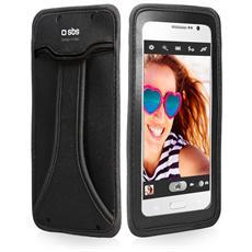 """Custodia Universale per Smartphone fino a 5"""" Colore Nero"""