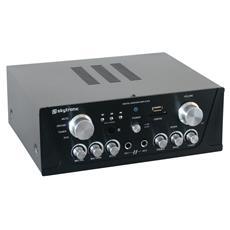 Amplificatore stereo 2 canali per Karaoke USB, Radio, Telecomando Hi-Fi 400 Watt colore nero