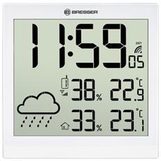 TemeoTrend JC bianco LCD Orologio meteo a parete