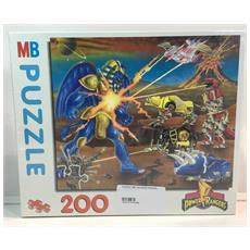 Puzzle Mb 100 Pezzi Power Rangers Tutti Contro Il Faraone Elettronico
